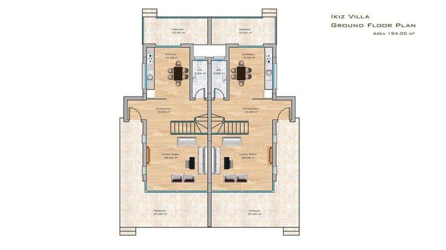 İkiz Villa ground floor plan
