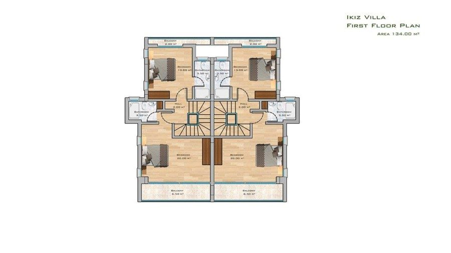 ikiz Villa first floor plan