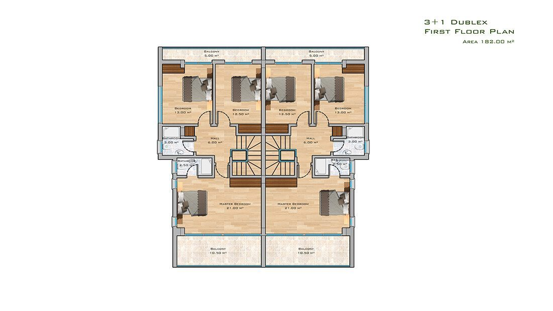 3+1 apt first floor plan
